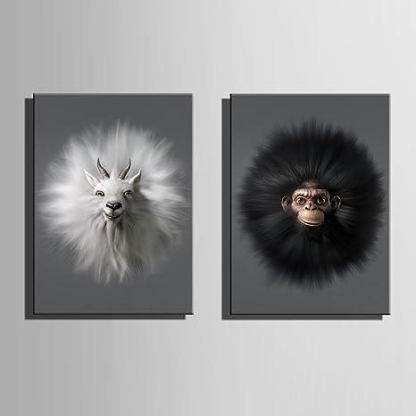 Hd Capre E Scimmie Stampa Artistica Pittura Poster Di Stampa Quadri