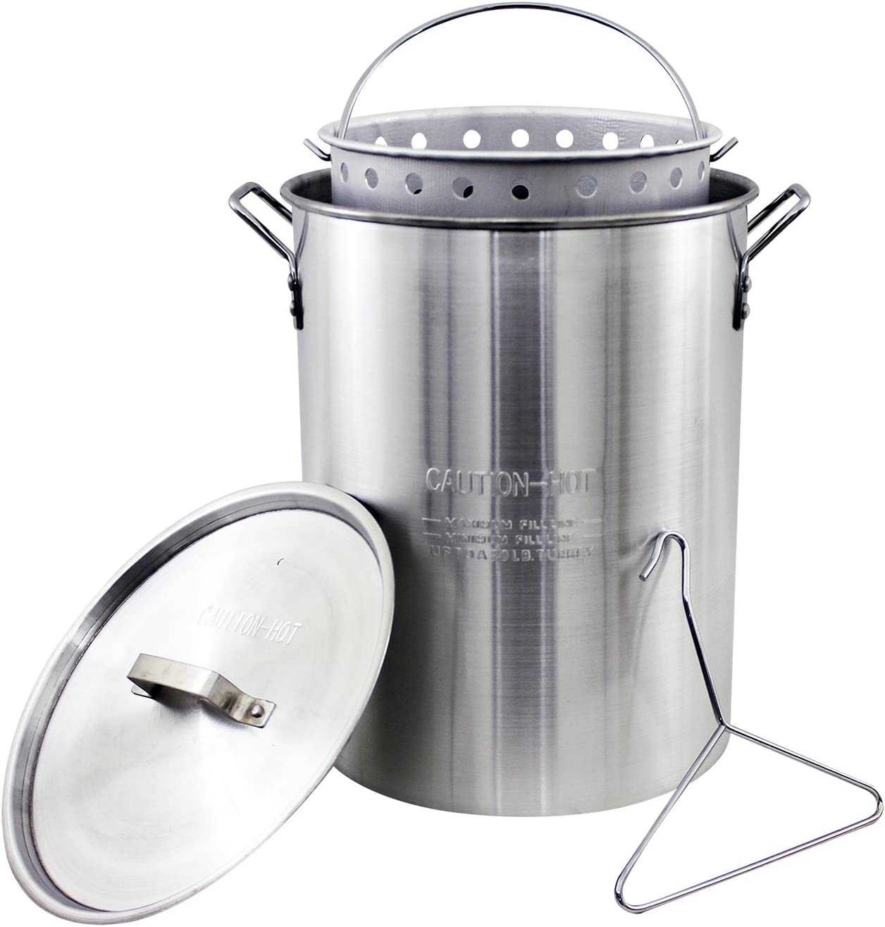 Chard ASP30, Aluminum Perforated Safety Hanger, 30 Quart Stock Pot and Strainer Basket