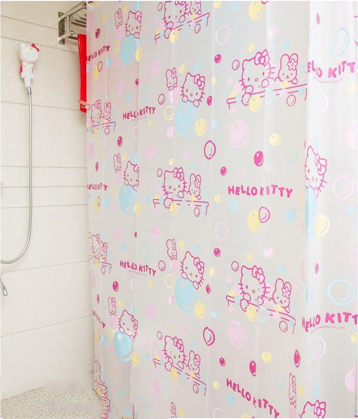 50OFF Ikeelife Environmental Friendly Waterproof Bubble Bath Shade Hello Kitty Cute Cartoon Translucent Shower