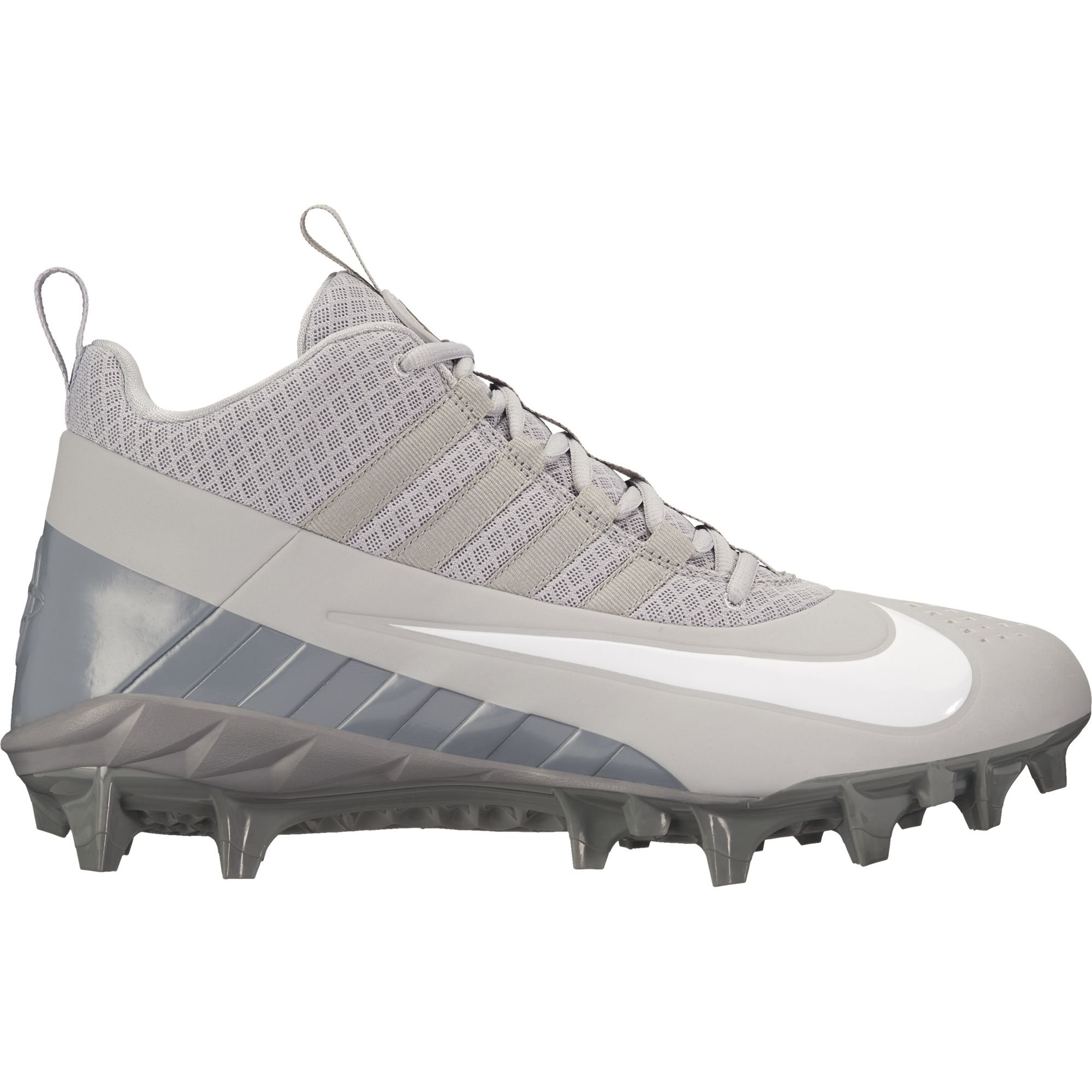 NIKE Men's Alpha Huarache 6 Pro Lax Lacrosse Cleat Wolf Grey/White/Cool Grey Size 10 M US