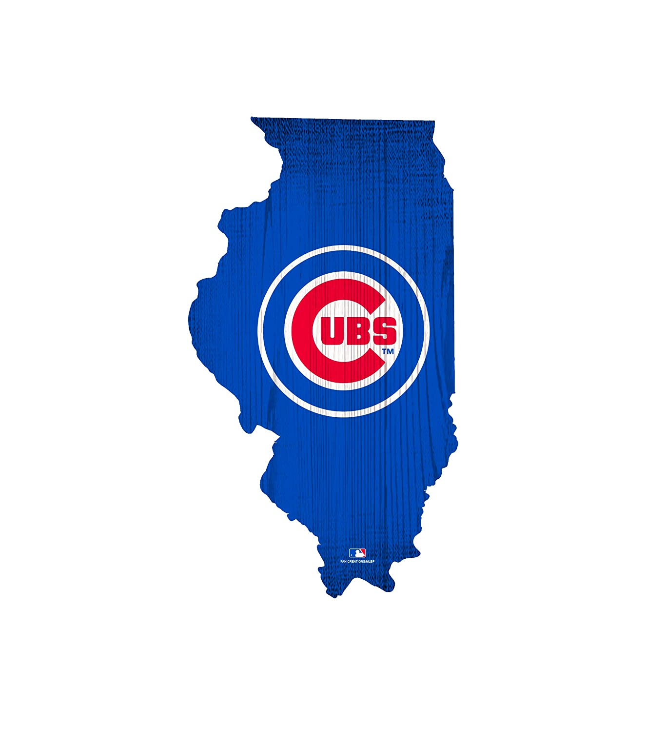 Fan Creations Chicago Cubs 12 Team Color Logo State