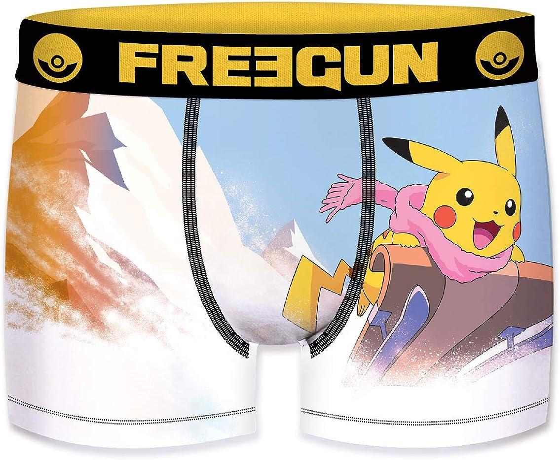 FREEGUN B/óxer para Hombre Pokemon Pikachu