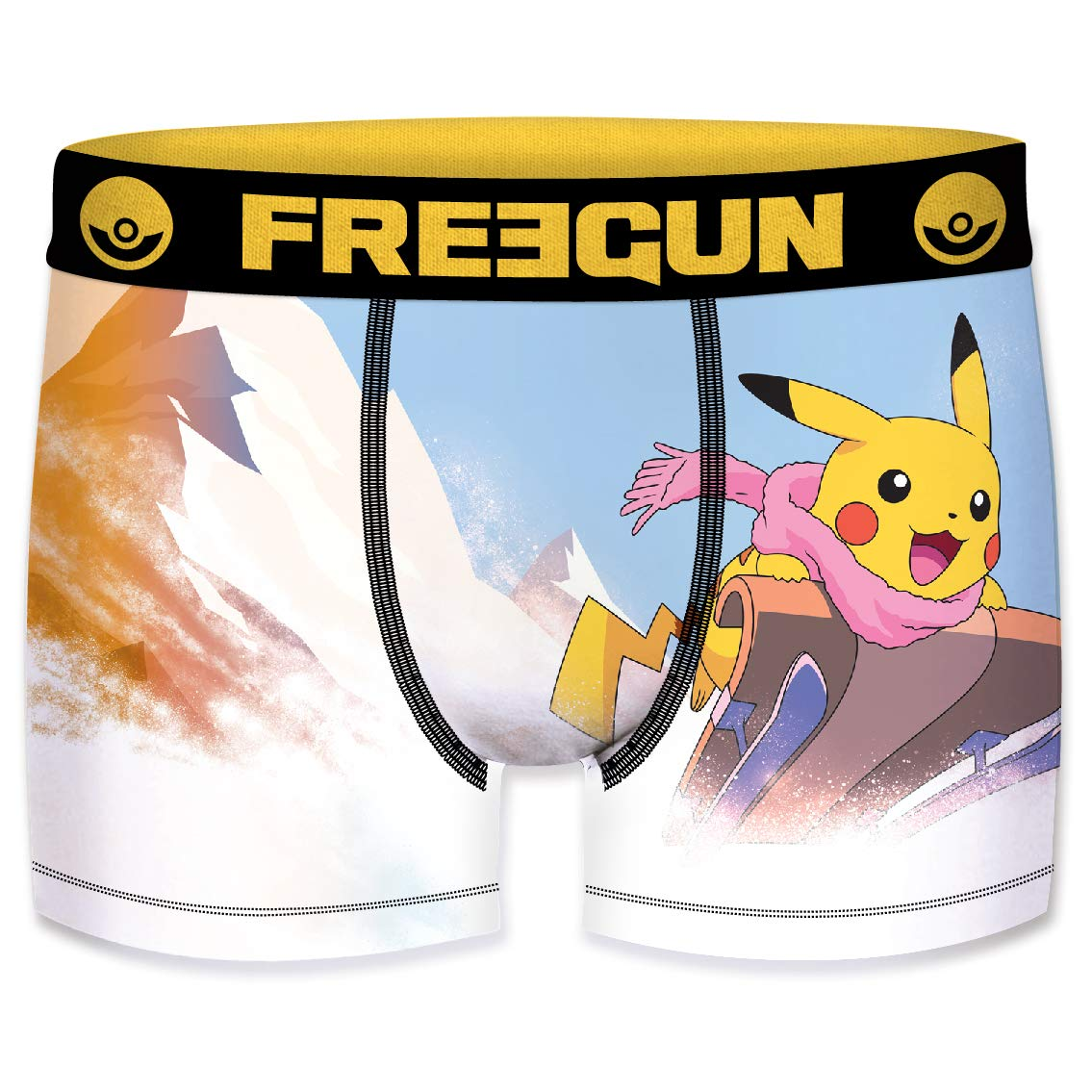 FREEGUN Boxer Homme Pokemon Pikachu No/ël