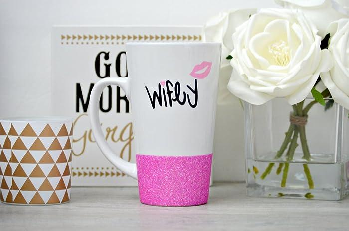 wifey mug wife mug bride glitter mug future wifey gift bride to