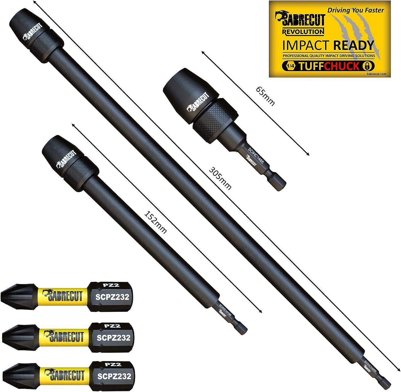 Milwaukee SabreCut SCRSL632/_5 Lot de 5 embouts de visseuse /à choc magn/étiques /à fente 32 mm SL6 pour Dewalt Makita et autres Bosch