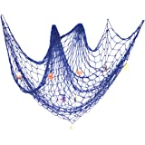 eZAKKA Decorative Fish Netting Fishing Net Decor 79 x 59inch Ocean Pirate Beach Theme Party Home Decorations…