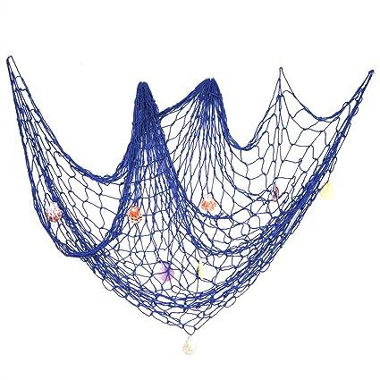 Amazon Com Ezakka Decorative Fish Net 79 X 59inch Mediterranean