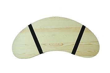 315 portable curved shape light wood lap desk by trademark innovations - Kcheninnovationen Inkl