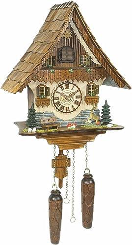 Trenkle Quartz Cuckoo Clock Black Forest House with Music TU 454 QM HZZG