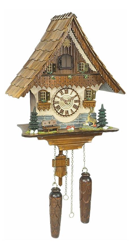 attractive Quartz Cuckoo Clock Part - 1: Trenkle Quartz Cuckoo Clock Black forest house with music TU 454 QM HZZG