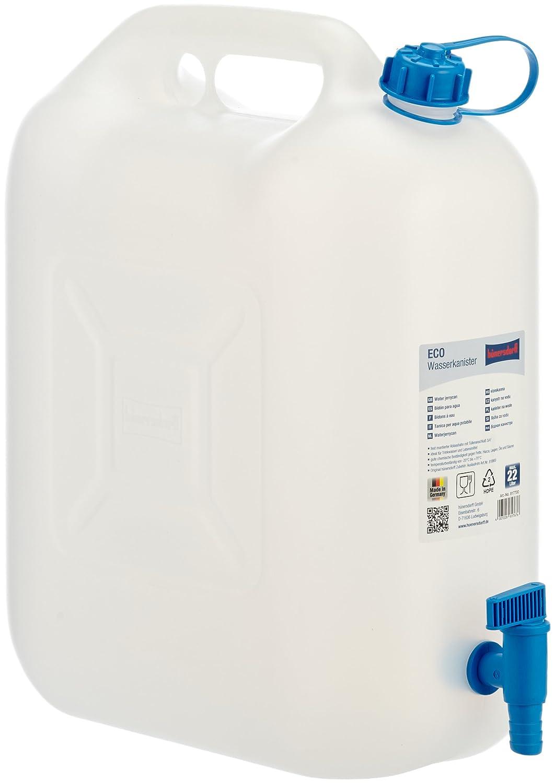 H/ünersdorff Bid/ón para agua ECO 22/L con grifo con grifo de descarga azul montado de forma fija PEAD natural