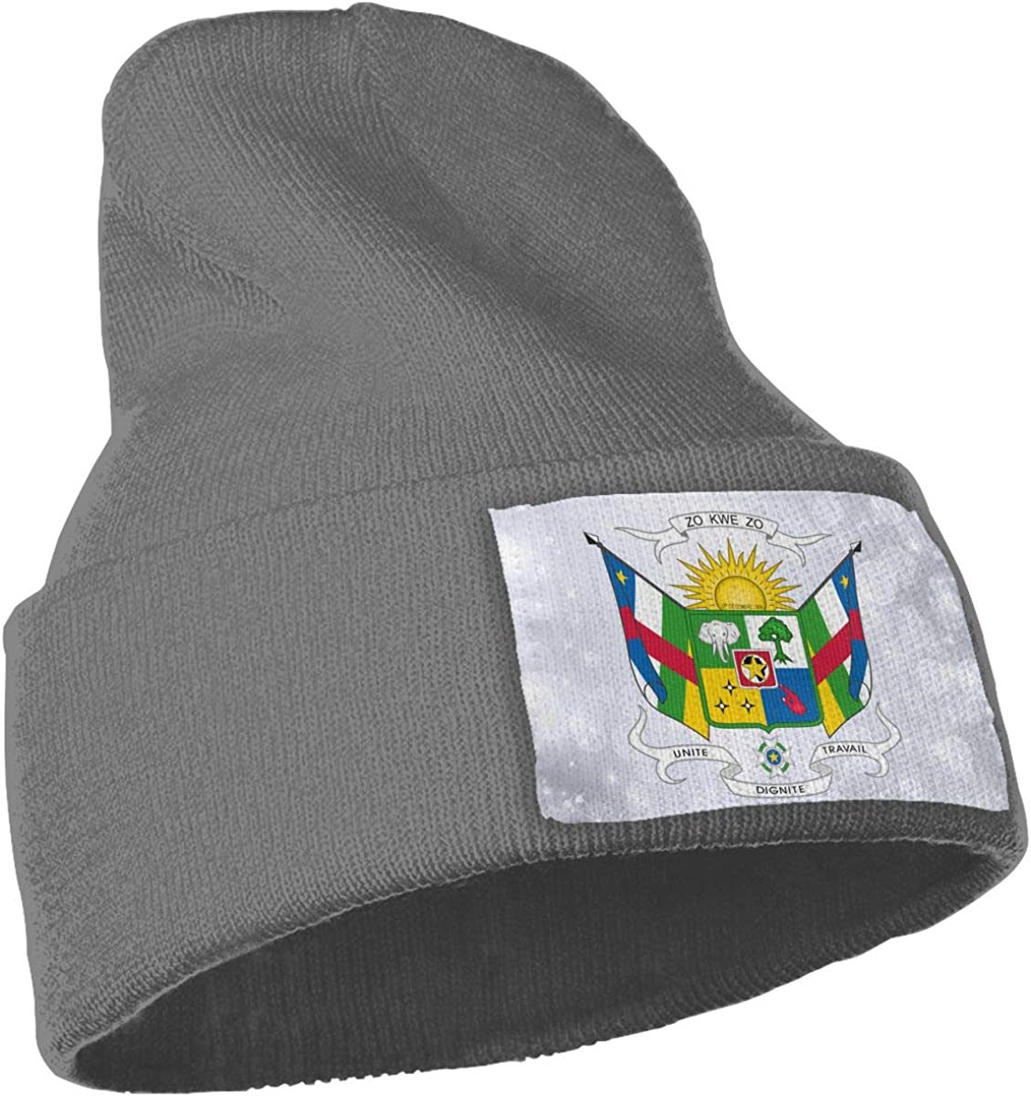 JimHappy Coat of Arms of The Central African Republic Hat for Men and Women Winter Warm Hats Knit Slouchy Thick Skull Cap