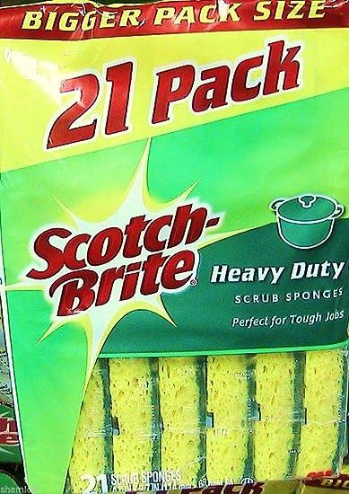 Amazon com: 4 Wholesale Lots Scotch-Brite Heavy Duty Sponges