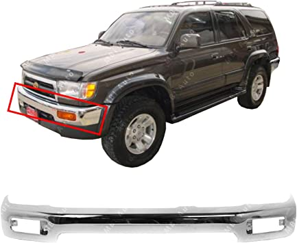 Bumper Compatible with Toyota 4Runner 96-98 Front Bumper Face Bar Black Base//SR5 Models