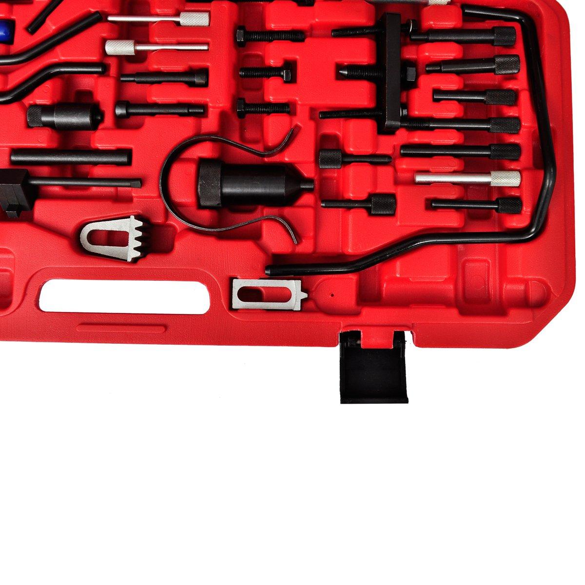 vidaXL Juego de Herramientas de Sincronización de Motor Coche Kit de Mecánica: Amazon.es: Bricolaje y herramientas