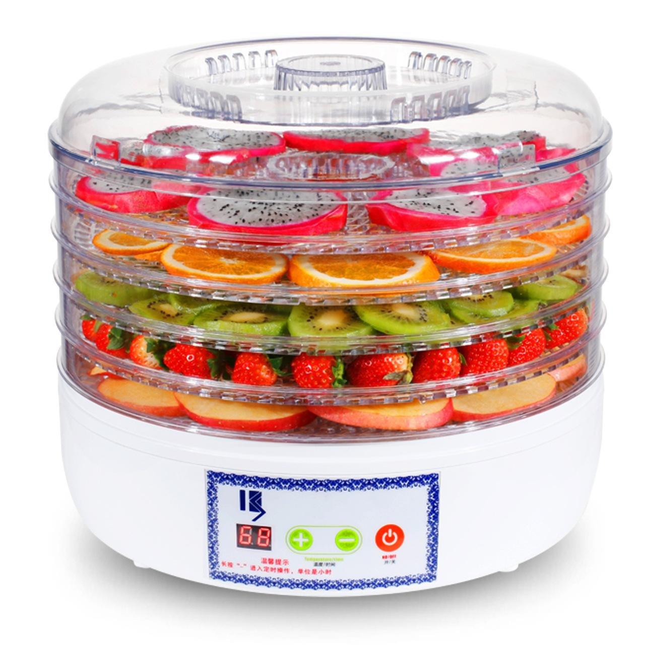 Felices compras Deshidratador Digital de de de Secadora de Alimentos Deshidratador de fruta de 5 niveles con control de temperatura ajustable y temporizador  popular