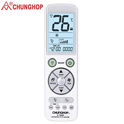 Chunghop Universal Remote for Air Conditioner Control with Back Light Big  Monitor Air Conditioning Controller K-1060e 5000Code in 1 for LG, Samsung,
