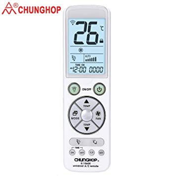 Amazon.com: Chunghop Universal Remote for Air Conditioner Control with Back Light Big Monitor Air Conditioning Controller K-1060e 5000Code in 1 for LG, ...
