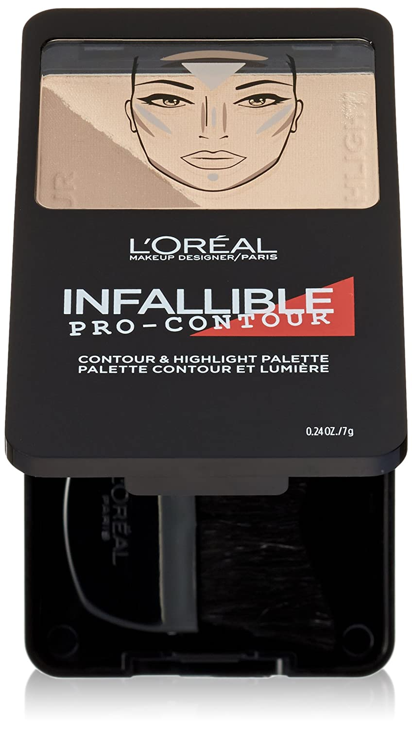 L'Oréal Paris Infallible Pro Contour Palette, Light/Clair, 0.24 oz.