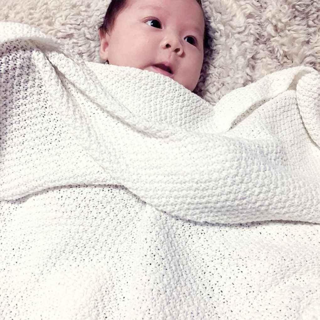 Babysbreath17 Caramelo Infantil Manta del Color del beb/é Reci/én Nacido org/ánica acr/ílica de Punto de Empa/ñar Pa/ño Abrigo del Ni/ño Swaddler 100x80cm Beige