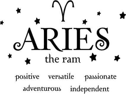 Aries The Ram Horoscope Zodiac Vinyl Wall Art Decal Home Decor Sayings  Quotes