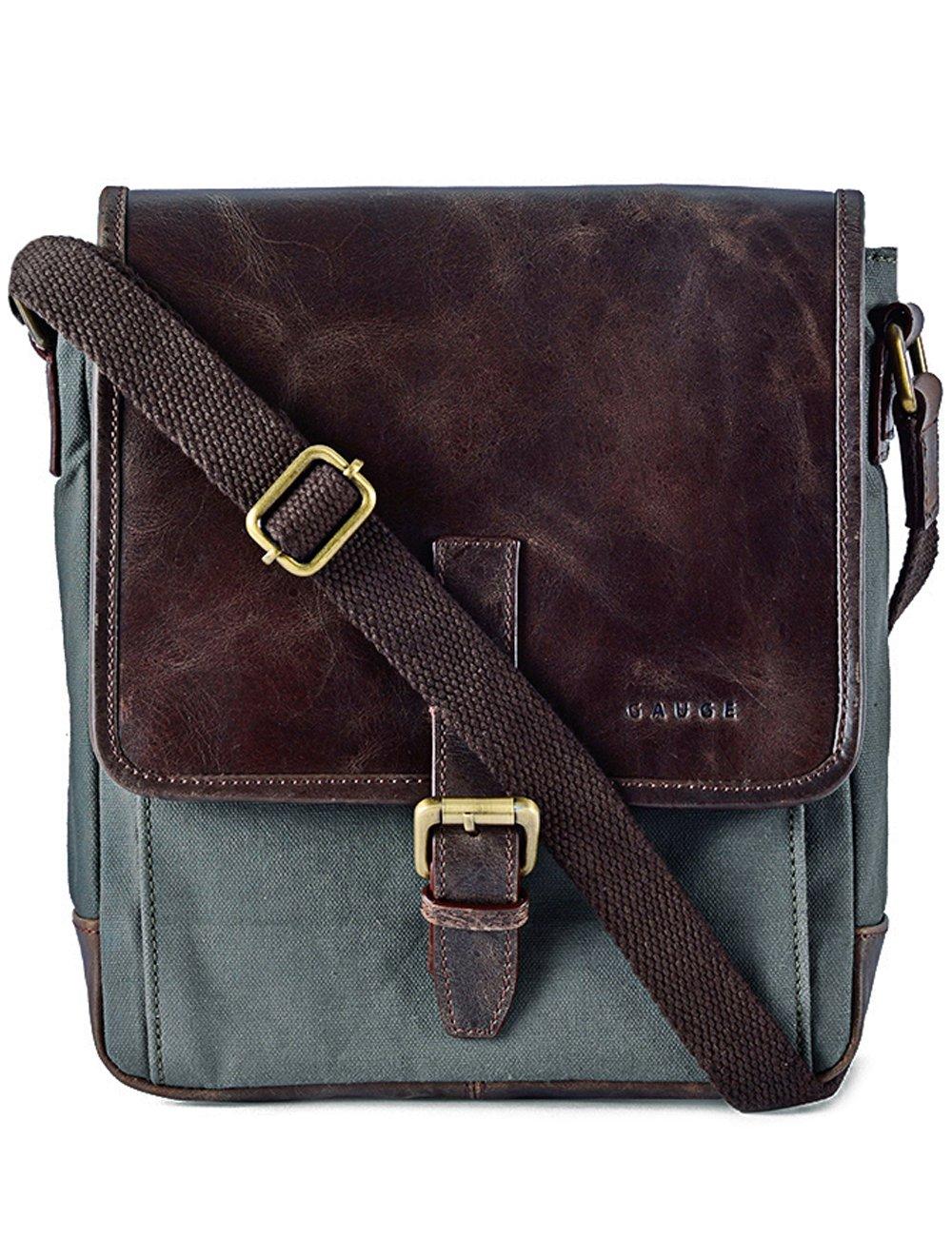 87391b3f04c2 chic Gauge Leather Trim Sling Bag for Men