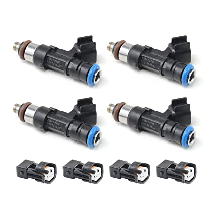 Amazon com: Set of 4 Fuel Injectors W/Adaptor for Bosch