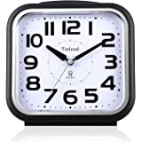 "5.5"" Silent Analog Alarm Clock Non Ticking, Gentle Wake, Beep Sounds, Increasing Volume, Battery Operated Snooze and Light Functions, Easy Set, Black (Best for Elder)"