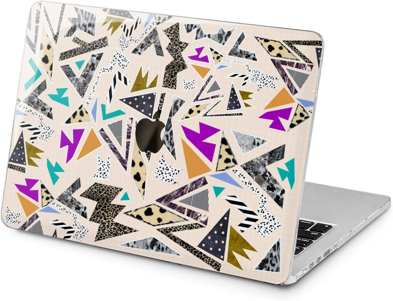 "Cavka Hard Shell Case for Apple MacBook Pro 13"" 2019 15"" 2018 Air 13"" 2020 Retina 2015 Mac 11"" Mac 12"" Geometric Pattern 90s Design Fashion Print Plastic Leopard Art Cover Protective Laptop Abstract"