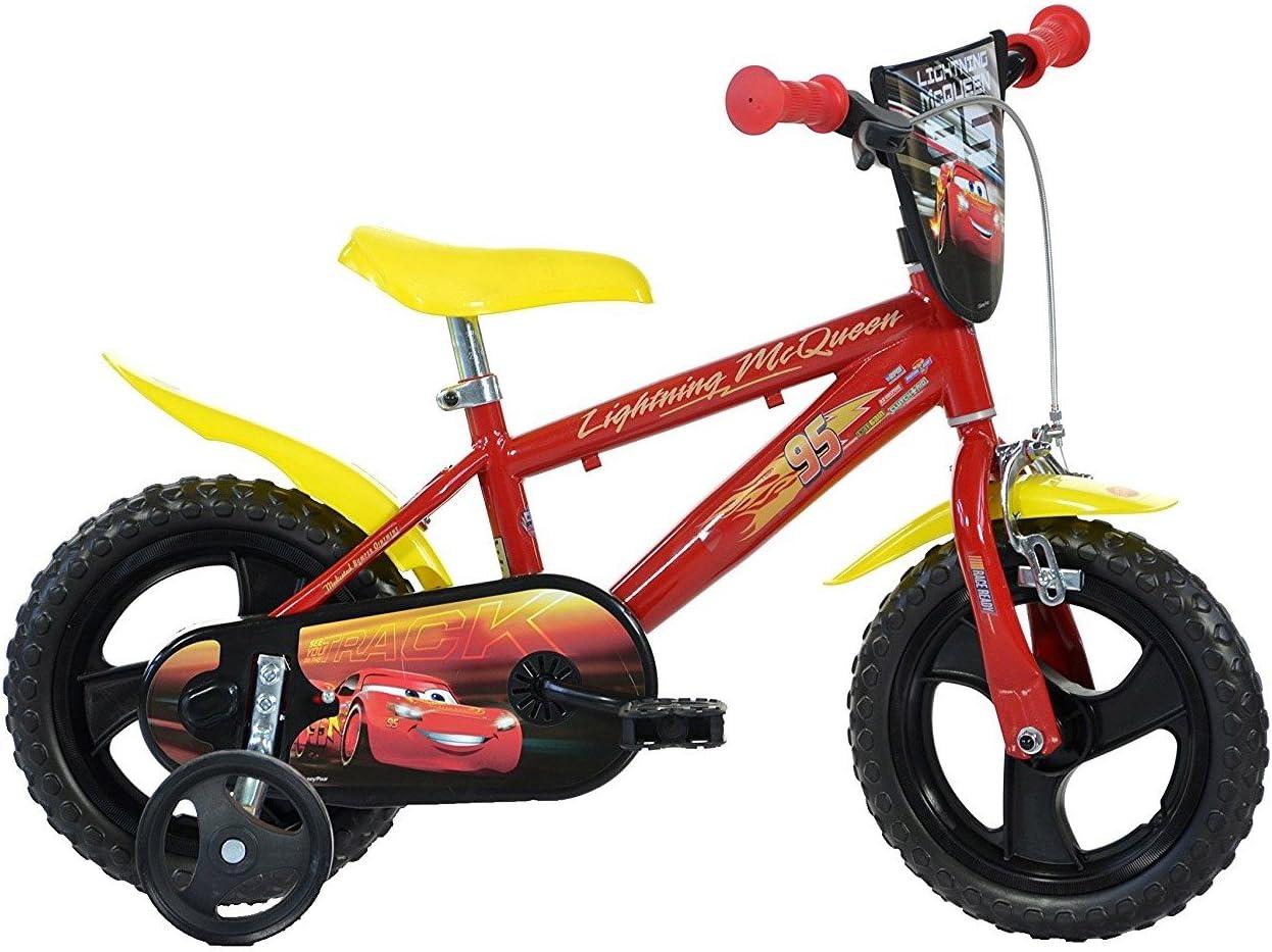 Mediawave Store Bicicleta niño Dino Bikes 412 ul-cs3 tamaño 12 Cars 3 Bicicleta Edades 3 – 5 años: Amazon.es: Deportes y aire libre