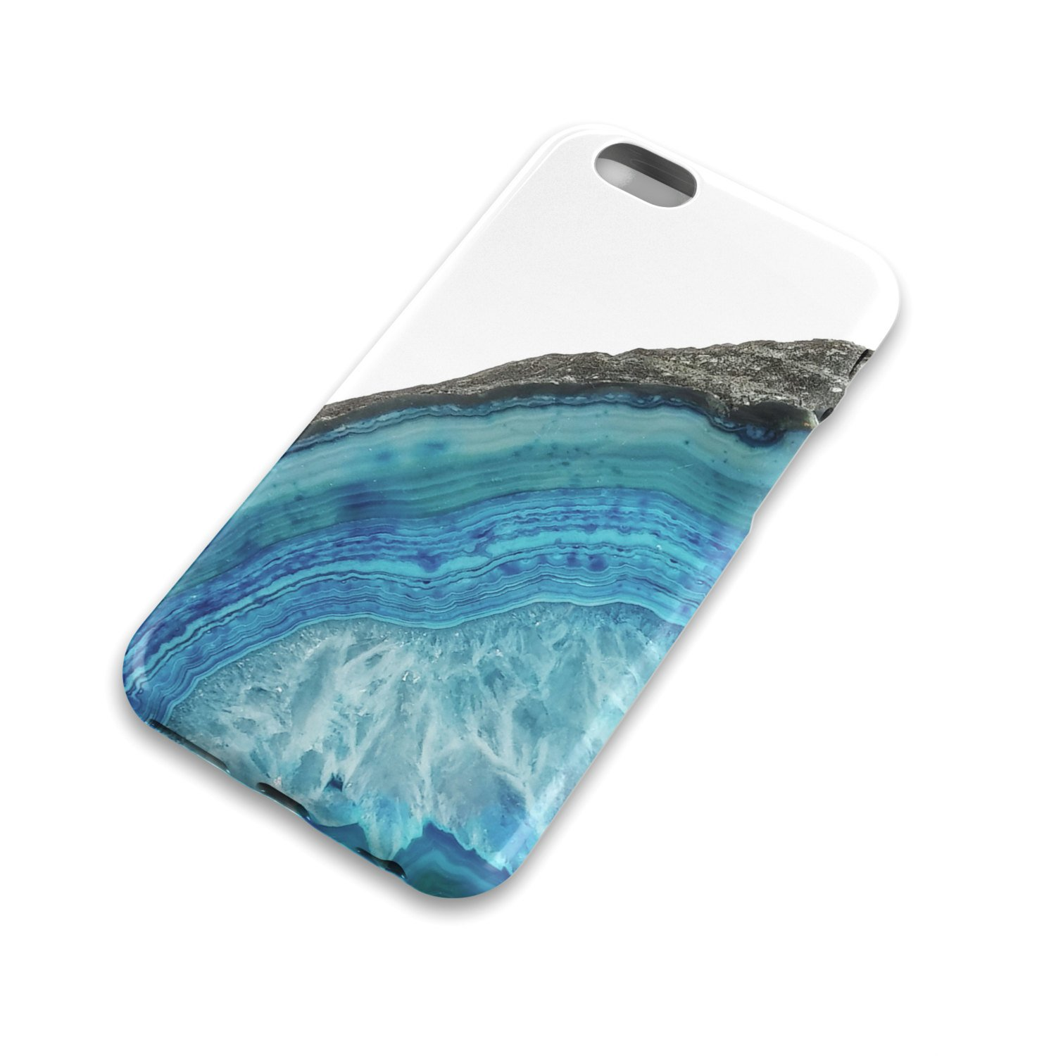 the latest c8b4b 7d638 Blue Agate Crystal iPhone case, Crystal, Gemstone, White, Healing, Geology,  (iPhone 6-Tough-Glossy)
