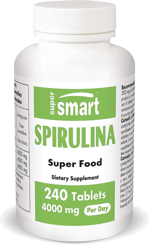Supersmart - Spirulina 500 mg – Extracto de Alga 100% Natural ...