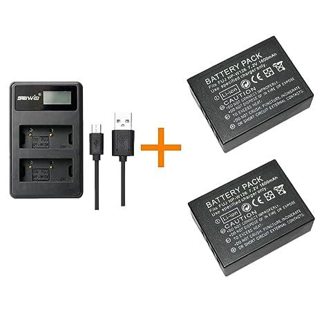 2 piezas 1200 mAh NP-W126 NPW126 Batería con cargador de ...