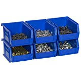 Akro-Mils 08212Sclar 30210 Plastic Storage Stacking AkroBins for Craft and Hardware (6 Pack), Clear