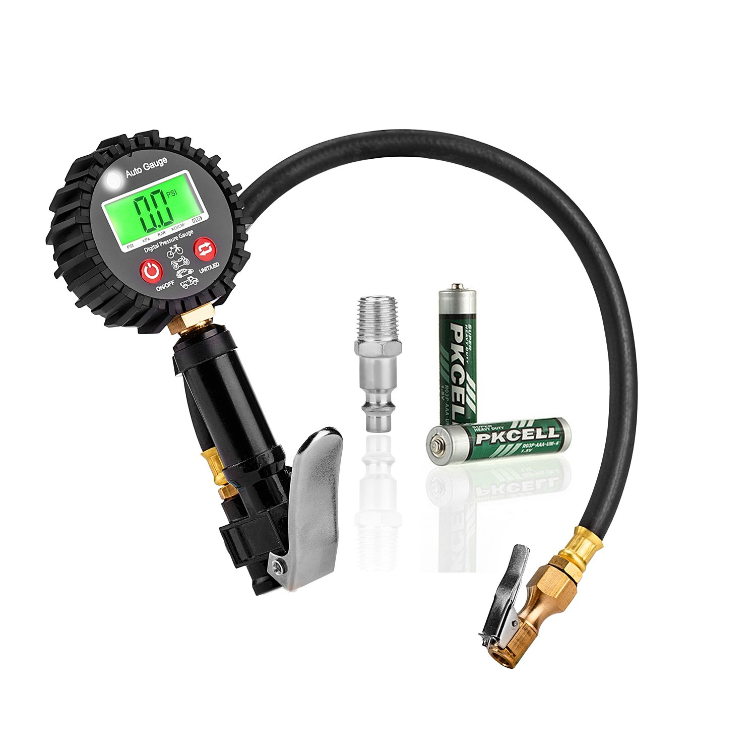 Utaly 200 PSI Digital Tire Pressure Gauge Inflator with Hose and Quick Connect Plug Gauge Air Compressor Tool for Car Bike Truck Motorcycle