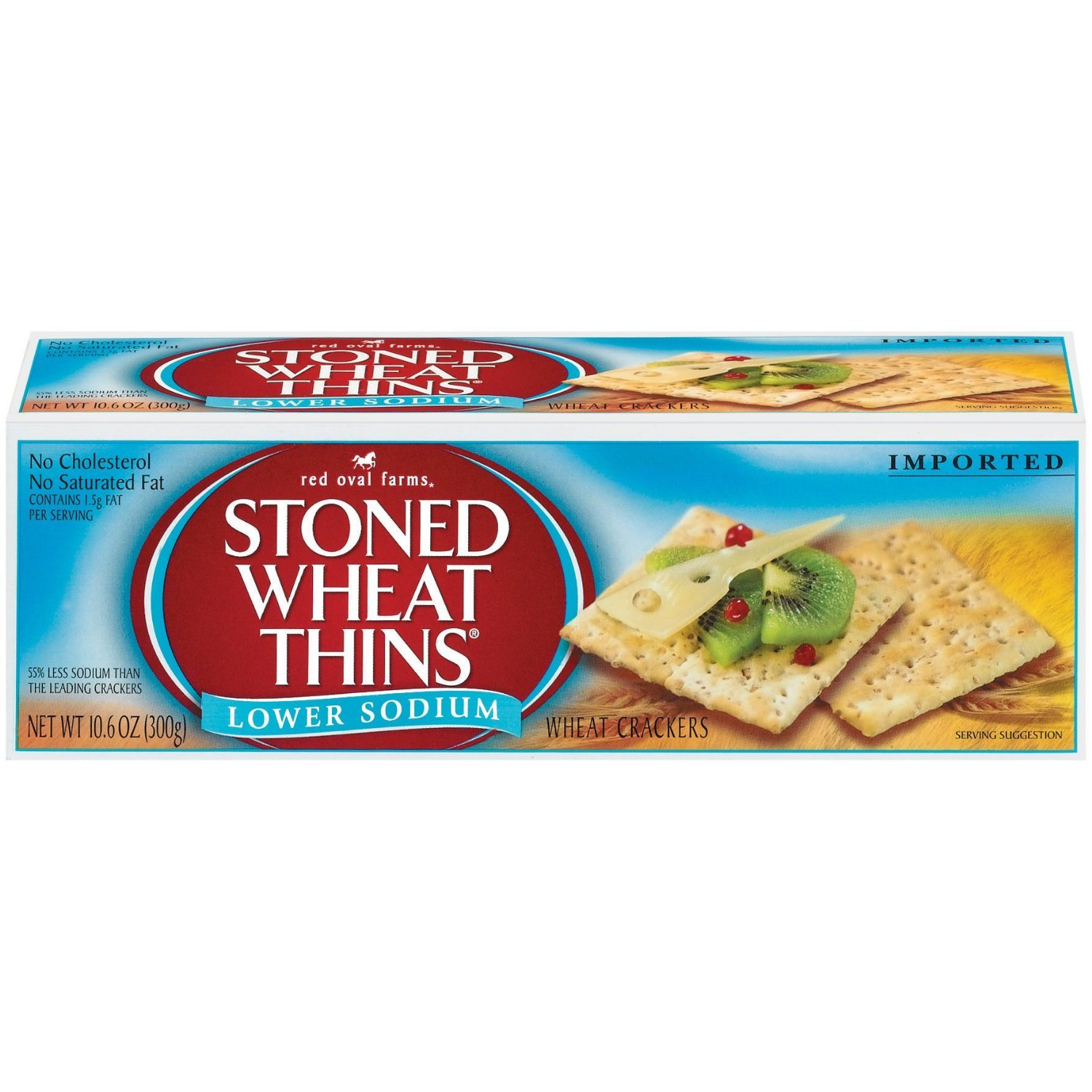 Stoned Wheat Thins, Low Sodium, 10.6-Ounce Boxes (Pack of 6)