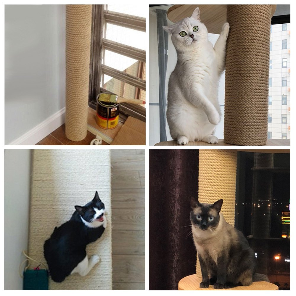 Hemp Rope For Cat Tree And Tower Diy Cat Scratcher Sisal Rope For