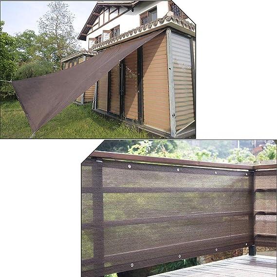 DALL Jardín al aire libre 90% Pérgola Casera Tela De Sombra con Ojales Cubierta De Sombra Resistente A Los Rayos UV Pabellón Sunblock Patio Canopy HDPE Permeable (Color : Brown, Size :
