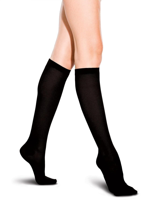 3 x Ladies /Women 80 Denier Knee High Trouser Pop Socks Black