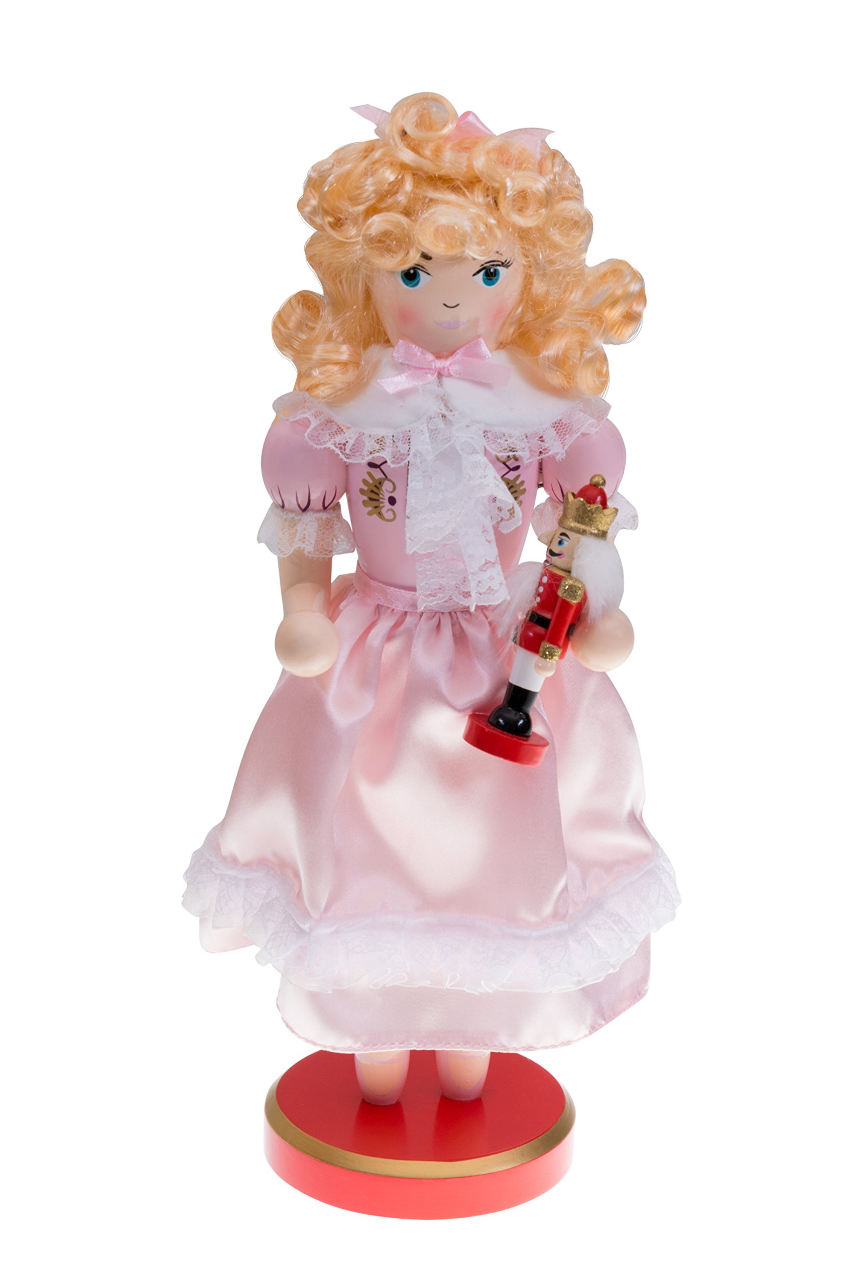 Pink Princess Clara Nutcracker Suite by Clever Creations | Holding Small Christmas Nutcracker | Festive Christmas Decor | Unique Addition to Any Collection | 100% Wood | 14'' Tall…