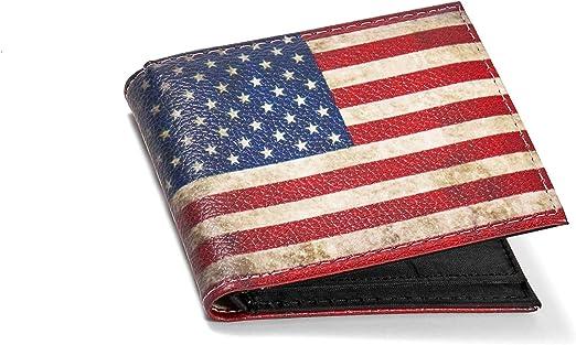 Bandera de los Estados Unidos para hombre/mujer cartera: Amazon.es: Hogar
