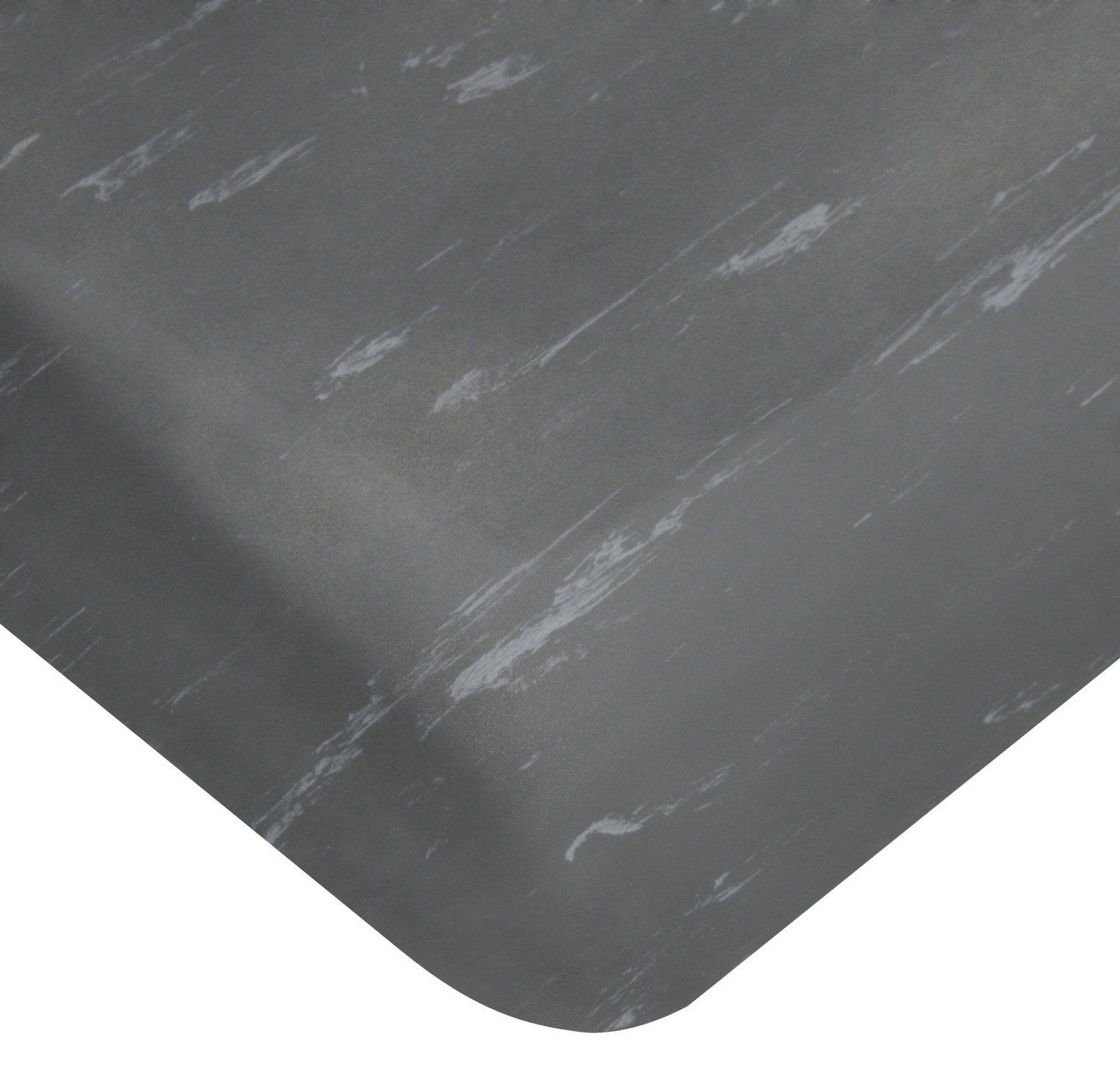 Wearwell PVC 419 UltraSoft Tile-Top Anti-Microbial Mat, Safety Beveled Edges, for Dry Areas, 2' Width x 3' Length x 7/8'' Thickness, Charcoal