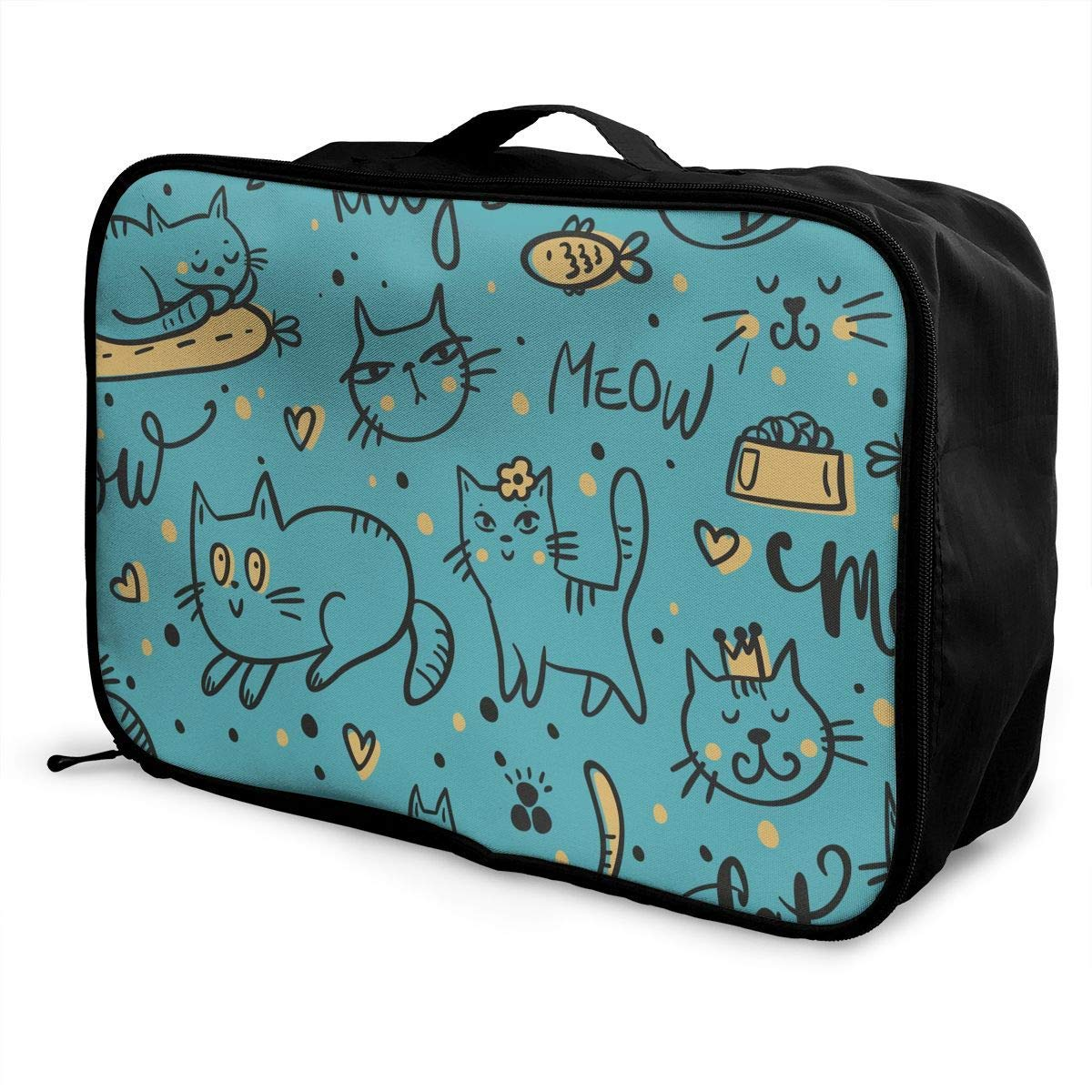 Travel Duffel Bag Waterproof Fashion Lightweight Large Capacity Portable Duffel Bag for Men /& Women Cute Leisurely Cats Kitten JTRVW Luggage Bags for Travel
