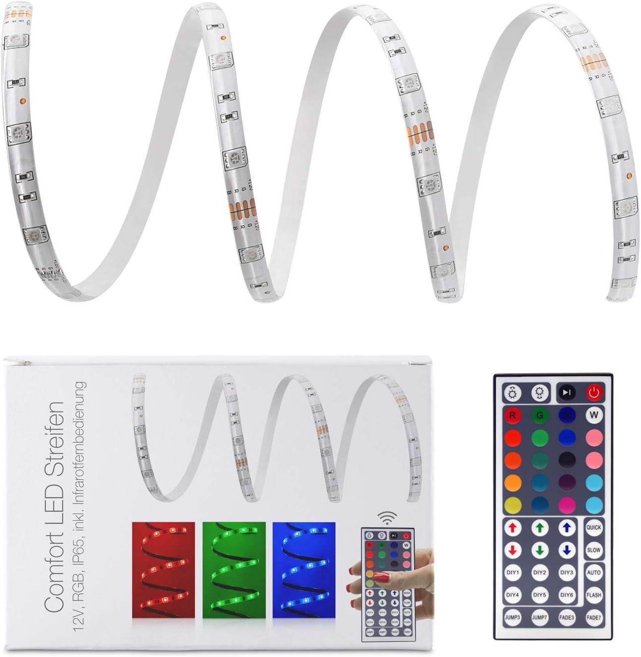 Fernbedienung+Netzteil 5-30m RGB 12V LED Lichterkette Leiste Stripe Stripe Band