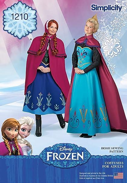 Simplicity Creative Patterns S0733 Disneys Frozen Pattern Costume for Children A 3-4-5-6-7-8