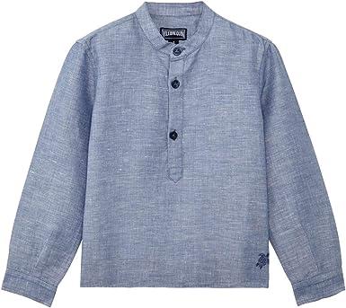 VILEBREQUIN - Camisa en Lino de algodón de Color Liso para ...