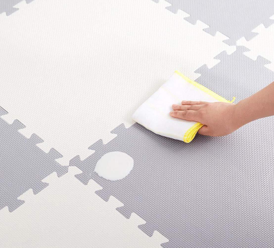 QXMEI Stitching High Elastic Foam Pad Puzzle Mat Children's Mat Crawling Mat Baby Bedroom Slip,Beige+Gray by QXMEI (Image #3)