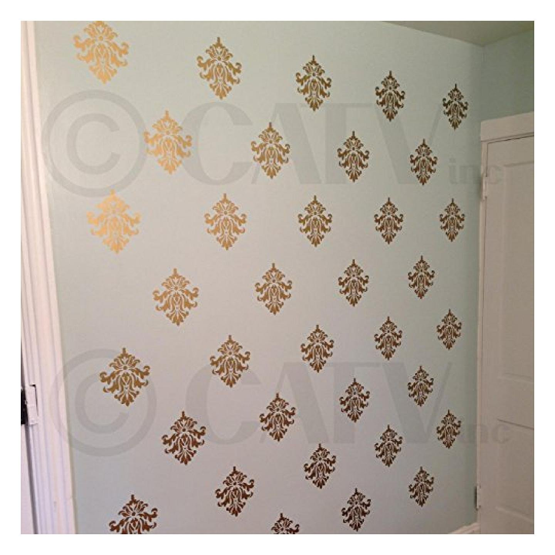 Damask Set Of 18 Vinyl Wall Decal Self Adhesive Wall
