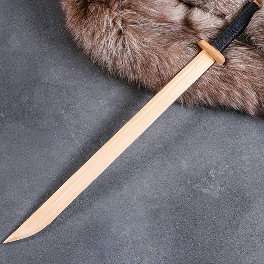 AEVVV Samurai Sword for Kids 24 in (60 cm) - Handmade Wooden Katana Sword Ninja Toys Outdoor Play - Espada Katanas De Madera De Juguete