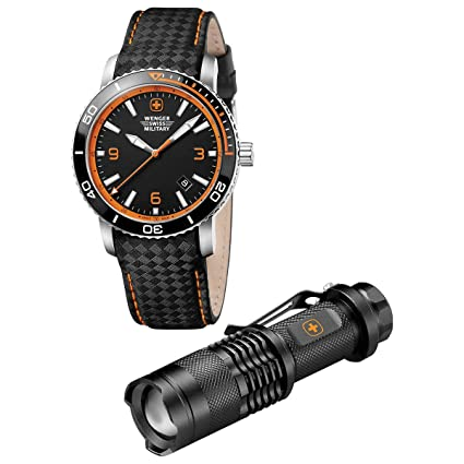 Wenger Roadster Mens Watch/LED Flashlight Set